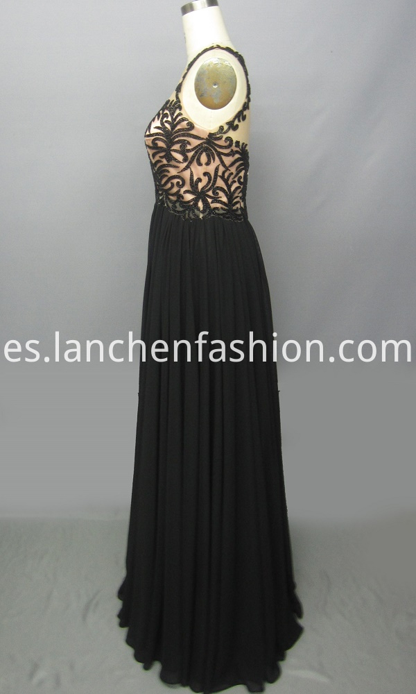 Round Neck Chiffon Prom Dress