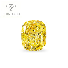 ForeverFlame fancy 12.5ct yellow cushion cut diamond CVD CZ color  Moissanite