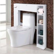 Gabinete de almacenamiento de baño empotrado delgado blanco
