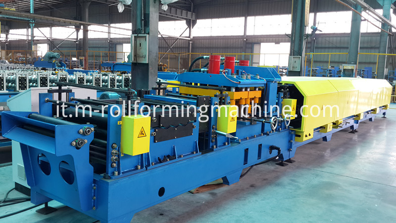 Gear box steel beam c shaped purlin forming making machine1