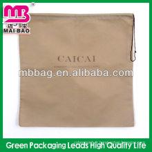 Le logo de marque fait sur commande a imprimé le sac non tissé de cordon pliable pour le cadeau de magasinage