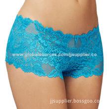Turquoise Shake Lace Brazilian Women's Boyshorts
