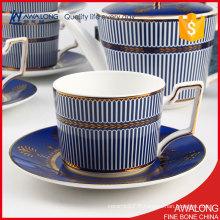 Blue Lines Ensembles de thé et de café / Ensembles de café et de thé arabes / Ensemble de café au thé splendide Vente
