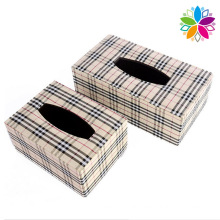 European Style Leather Tissue Box (ZJH065)