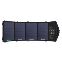 Hige Conversion 18W Sunpower Foldable Battery Powerbank 4 Panel Solar Charger