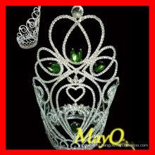 Зеленая каменная красавица большой высокий ферзь королевы тиара корона