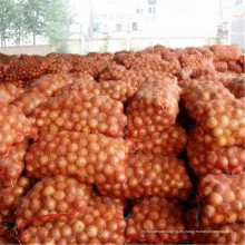 Venta al por mayor Factory Mesh Bags Patatas Orange