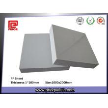 Weiße Hartplastik Solide PP-Panel