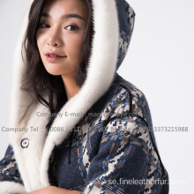 Kopenhagen Winter Velvet Mink Coat For Lady