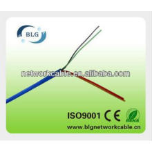 4 cores blue flat telephone cable wire