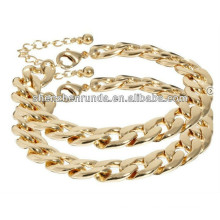 Stainless Steel Gold plating curb chain bracelet jewelry Manufacturer