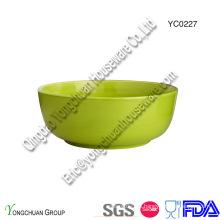 Tazón de fuente verde de cerámica promocional de la porción