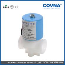Mini válvulas de solenóide de plástico de água mecânica para uso doméstico, baixa pressão