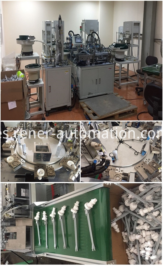 Automatic assembly machine for water inlet