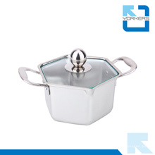 Hexagon Form Edelstahl Hot Pot & Stock Pot