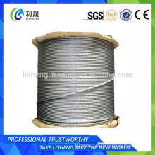 8x19 Elevador no galvanizado Cable de acero