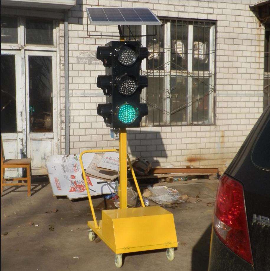 Solar Panel LED Traffic Signal Lights