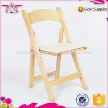 Hot Selling Qingdao Sionfur cadeiras dobráveis de madeira dobráveis