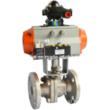 Electric / Pneumatic Ball Valve Switch (on-off) , Control Valve (4~20mA control) , Q641 Pneumatic on-off Ball Valve (with solenoid valve, limit switch)