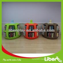 2014 nouveau design Plastique Kids Book Display, Kindergarten Plastique Meubles pour enfants en forme de fruit, Meubles de chambre pour enfants LE.SK.024 Assurance de la qualité