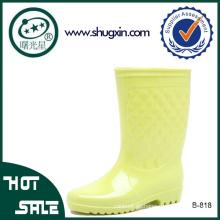 PVC-Regenstiefelfrauen wasserdichte PVC-Regenstiefel