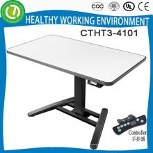 Uma mesa regulável com altura regulável para as pernas, com quatro alturas memorizadas por conjunto