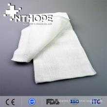 Rouleau de gaze absorbante blanche en coton 19x9 100 Gaze de compresse non toxique 2x2 3x3 en éponge