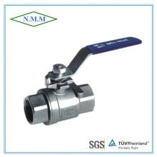 Válvula de esfera DIN roscada de aço inoxidável 2PC em 1000wog
