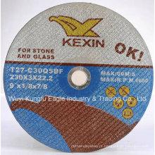 Disco de moagem abrasivo flexível da ligação da resina para a pedra e o vidro