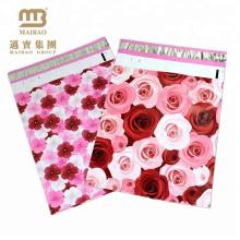 Нетоксический 10Х13 6х9 розовые Розы дизайнер доставка конверт на заказ с рисунком Поли mailer