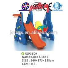 Kids animal plastic slide garden toy