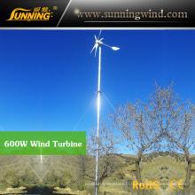 Utilisation résidentielle résidentielle de turbine de vent du générateur 600W