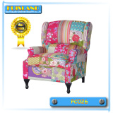 Classic patchwork upholstered chair comfortable sofa chair