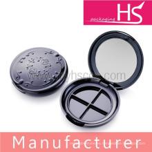 Contenedor cosmético de sombra de ojos de plástico