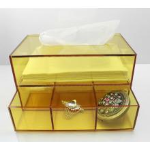 Gelber Acryl Tissue Box Serviette Box Lucite