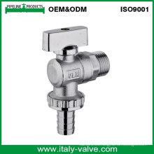 OEM y ODM Calidad cromada válvula de ángulo de latón (AV3068)