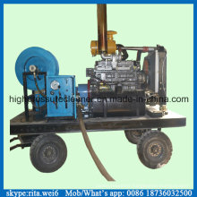 200bar Diesel Sewer Pipe Cleaning Washer High Pressure Drain Cleaning Equipment