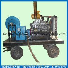 Equipamento diesel da limpeza do dreno da arruela da limpeza da tubulação de esgoto da barra 200bar