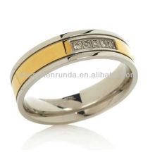 Китай Ювелирные изделия оптом Кольцо CZ пользовательских из нержавеющей стали золото моды кольца ювелирные изделия