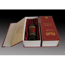 Embalaje del vino de papel del grado superior / empaquetado del vino de la cartulina del papel de la PU (MX-092)
