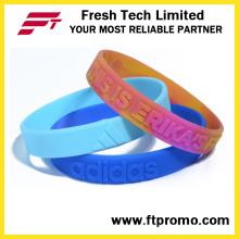 Мода OEM силиконовый браслет с тиснением логотипа