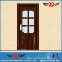 JieKai Main products pvc windows and doors / bathroom pvc doors prices / frosted glass bathroom door