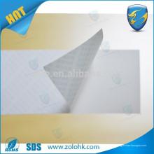 Papier étiquette destructible invisible de ZOLO