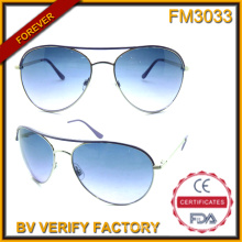 FM3033 Moda auténtico diseñado marcos de Metal gafas de sol Unisex
