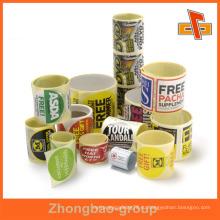 Гуанчжоу производитель оптовая печать и упаковочные материалы пользовательских клейкой клейкой этикетки