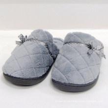 Крытый тапочки плюшевых женщин тапочки носок покрытия мягкой женской обуви