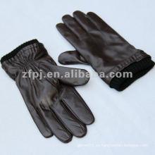 Nuevo color marrón completo dedo guante de invierno