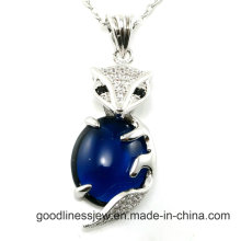 Special Design and Beautiful Fox 925 Sterling Silver Key Pendant P4982