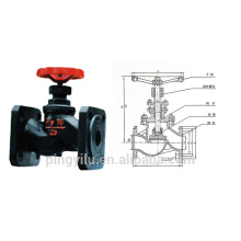 cast iron globe valve flange end non-rising stem globe valve for water oil vapour pipeline high quality material