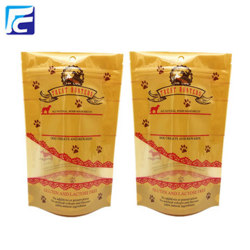 Customized ziplock pet food packaging bag with winow